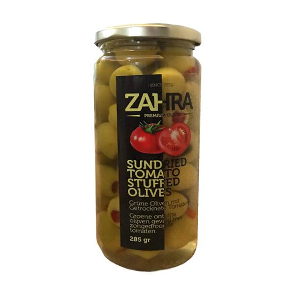 Zielone oliwki nadziewane pomidorami 285 g